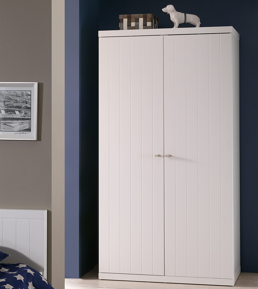 armoire blanche design robinson zd1 arm e. Black Bedroom Furniture Sets. Home Design Ideas
