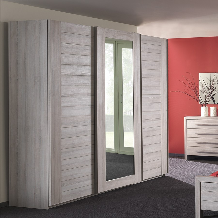 Armoire Adulte Contemporaine 3 Portes VICTORIA, Armoire Adulte   HcommeHome