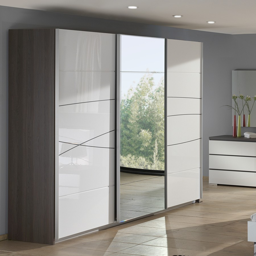 armoire design blanche et chene folgo zd1 arm a d. Black Bedroom Furniture Sets. Home Design Ideas