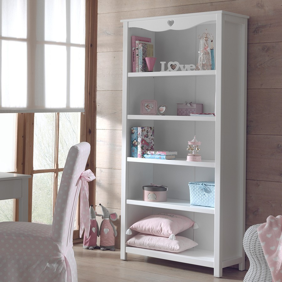 bibliotheque blanche contemporaine stella zd1 m biblio e. Black Bedroom Furniture Sets. Home Design Ideas