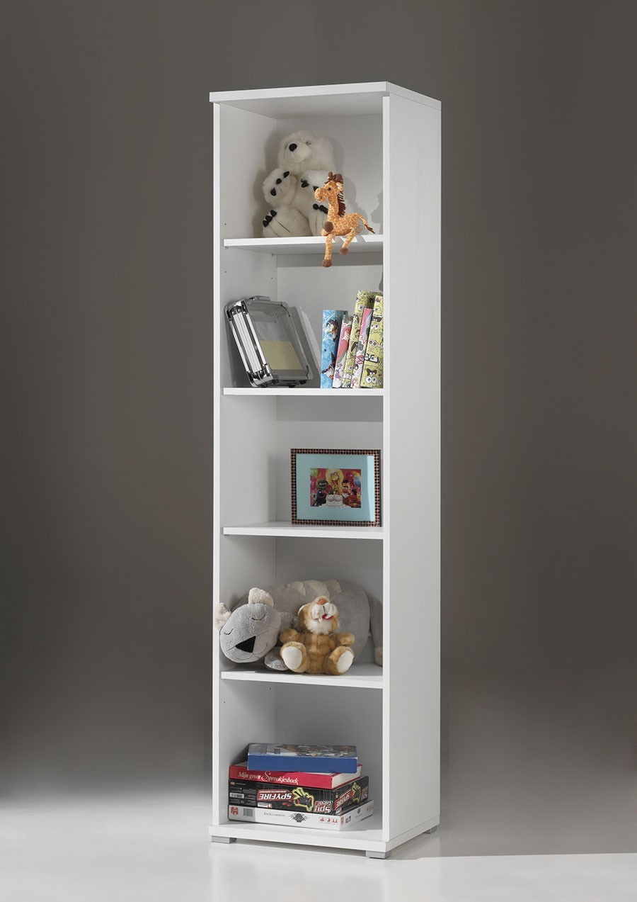Bibliotheque colonne blanc gregory for Bibliotheque meuble moderne