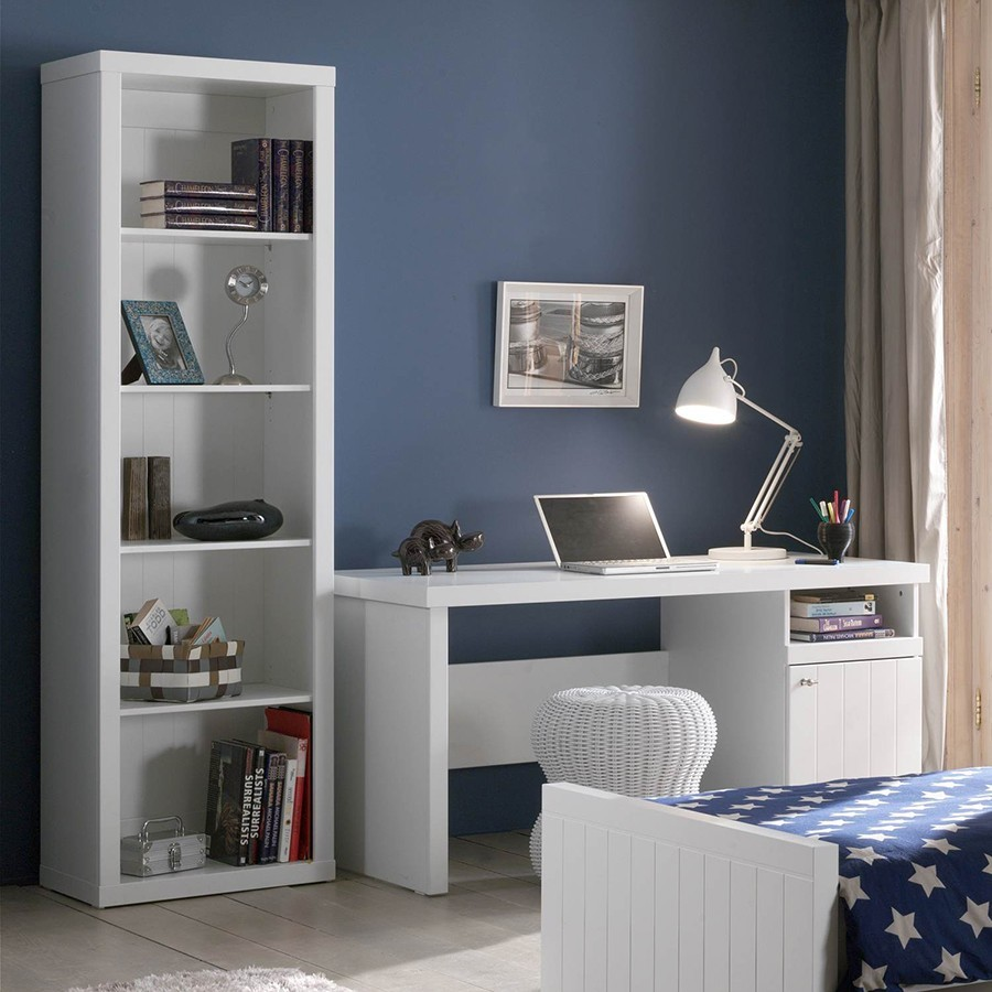 bibliotheque contemporaine blanche robinson zd1 m biblio e. Black Bedroom Furniture Sets. Home Design Ideas