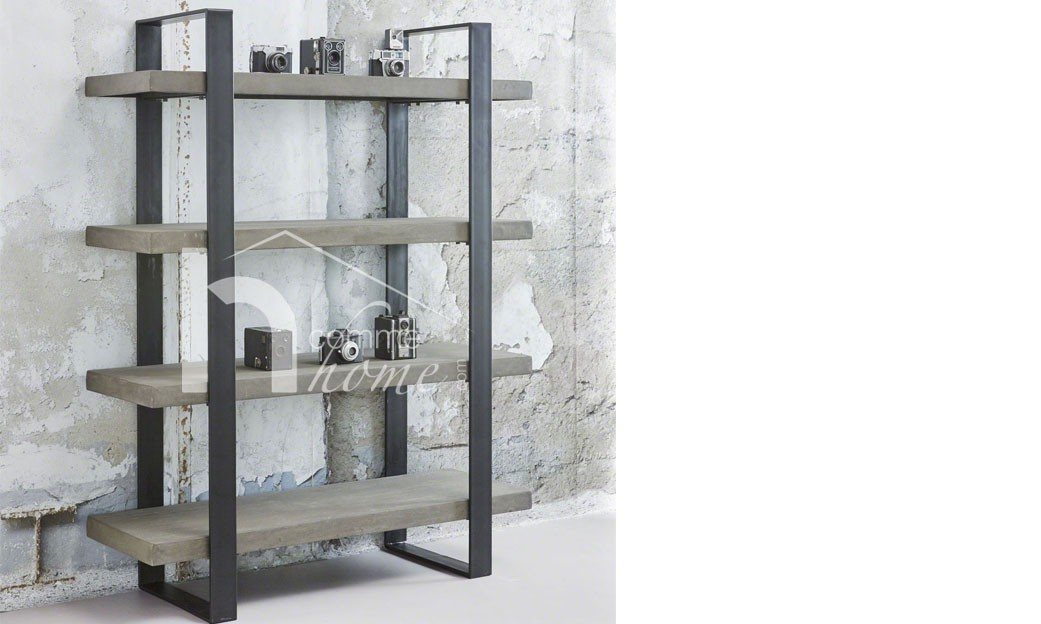 biblioth que style industriel rack tag re sur roulettes. Black Bedroom Furniture Sets. Home Design Ideas