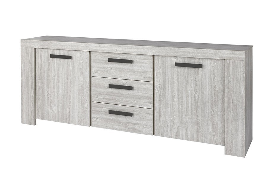 buffet bahut chene gris contemporain gand2 zd1. Black Bedroom Furniture Sets. Home Design Ideas