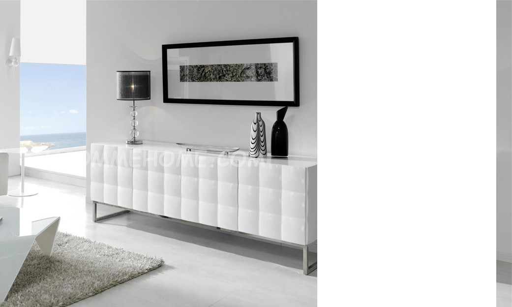 Buffet-bahut design laqué blanc ALFEO disponible en 2 dimensions