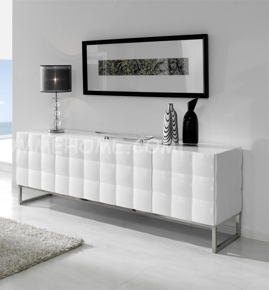 Buffet bahut design blanc alfeo zd1 bah b d - Buffet contemporain design ...