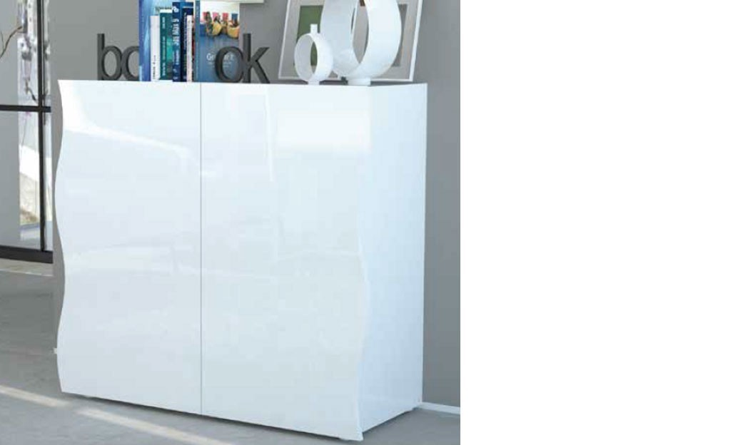 Buffet blanc laqué design 2 portes SWELL 3