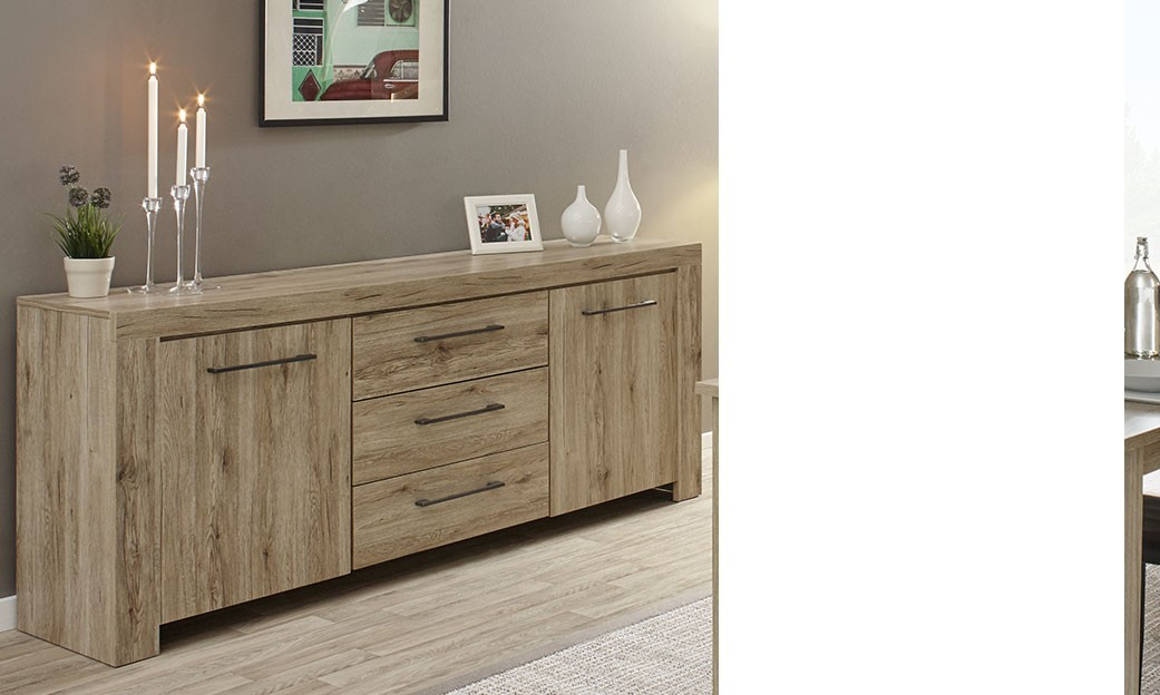 buffet contemporain couleur bois clair iris. Black Bedroom Furniture Sets. Home Design Ideas