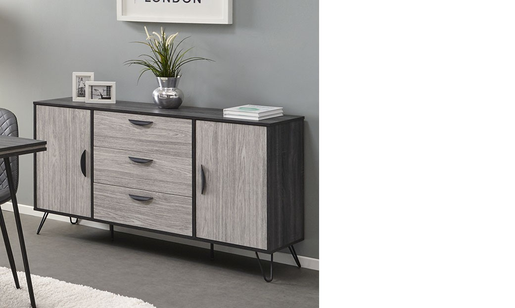 buffet couleur fabulous description for buffet bois metal. Black Bedroom Furniture Sets. Home Design Ideas