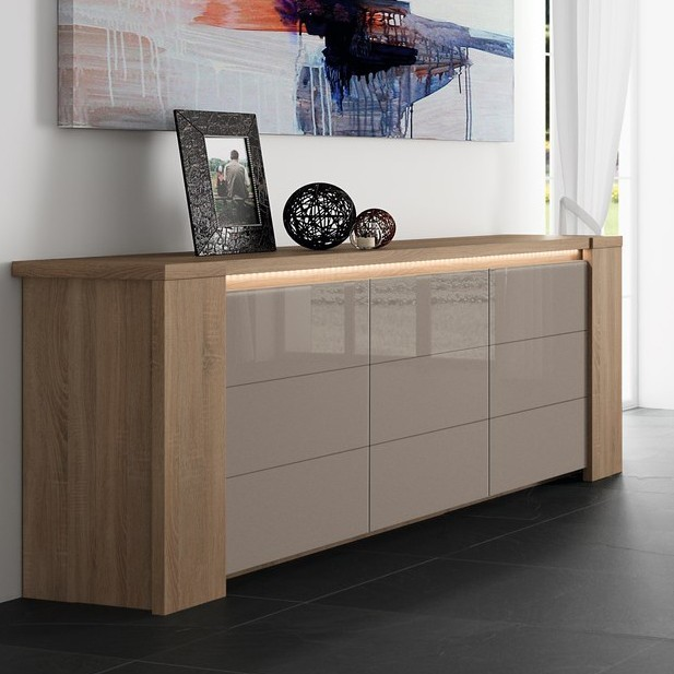 ordinary buffet chene massif contemporain 10 buffet bahut contemporain bryo ii coloris ch ne. Black Bedroom Furniture Sets. Home Design Ideas