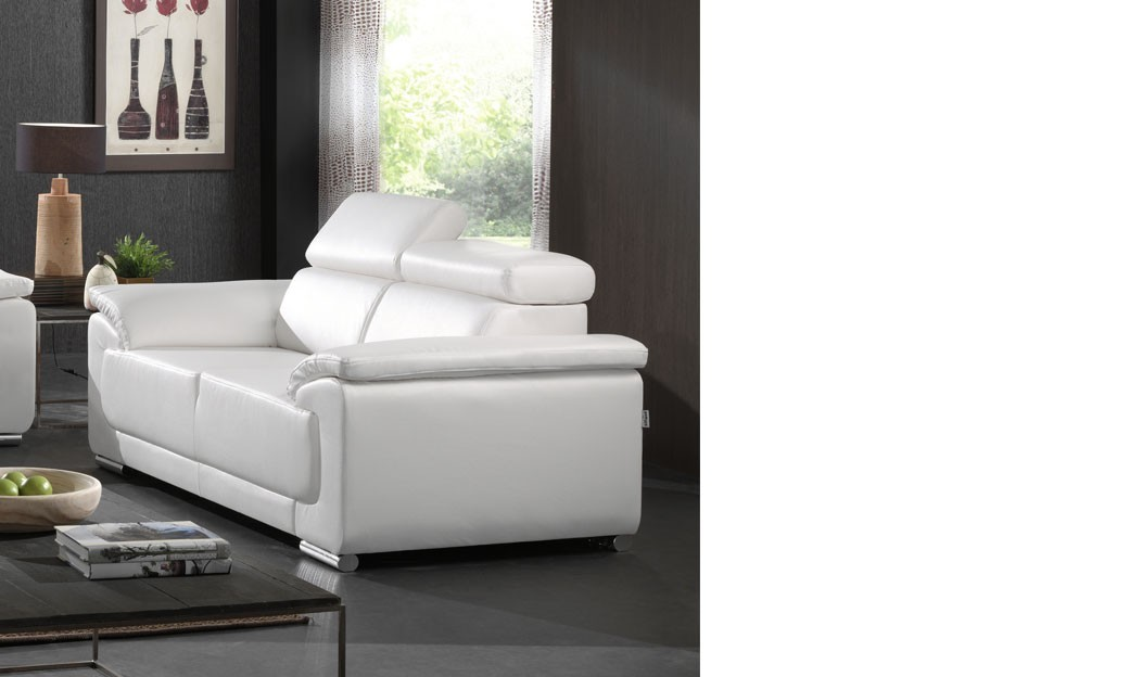 canap 2 places blanc napoli coloris au choix. Black Bedroom Furniture Sets. Home Design Ideas