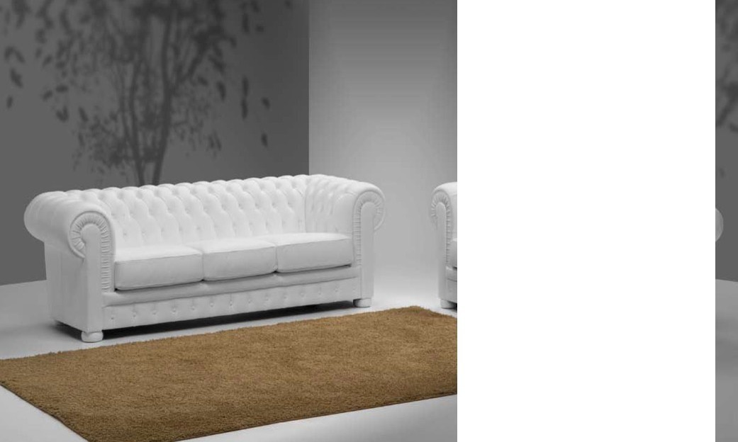 Canapé chesterfield 3 places 100% cuir BRIGHTON