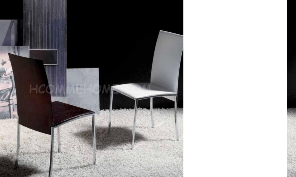 Chaise de salle à manger design NOELA, disponible en 2 coloris ( LOT DE 2 )