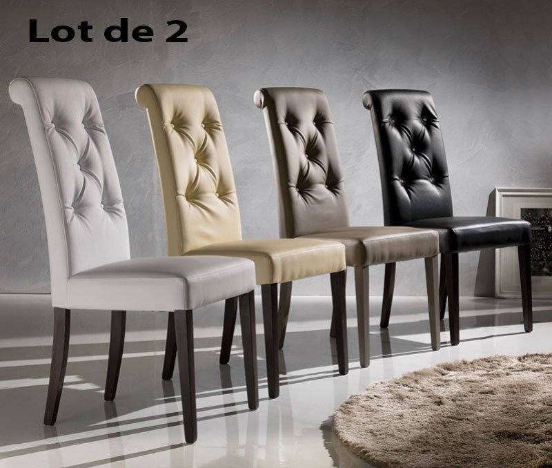 Chaise pu capitonne luxa zd1 c d ec for Chaise pour salon