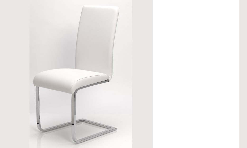 Chaise de salle a manger blanche chaise blanche but with for Chaise blanche design salle a manger