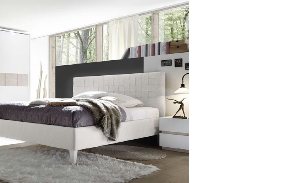 chambre adulte laqu blanc et couleur bois beige moderne. Black Bedroom Furniture Sets. Home Design Ideas