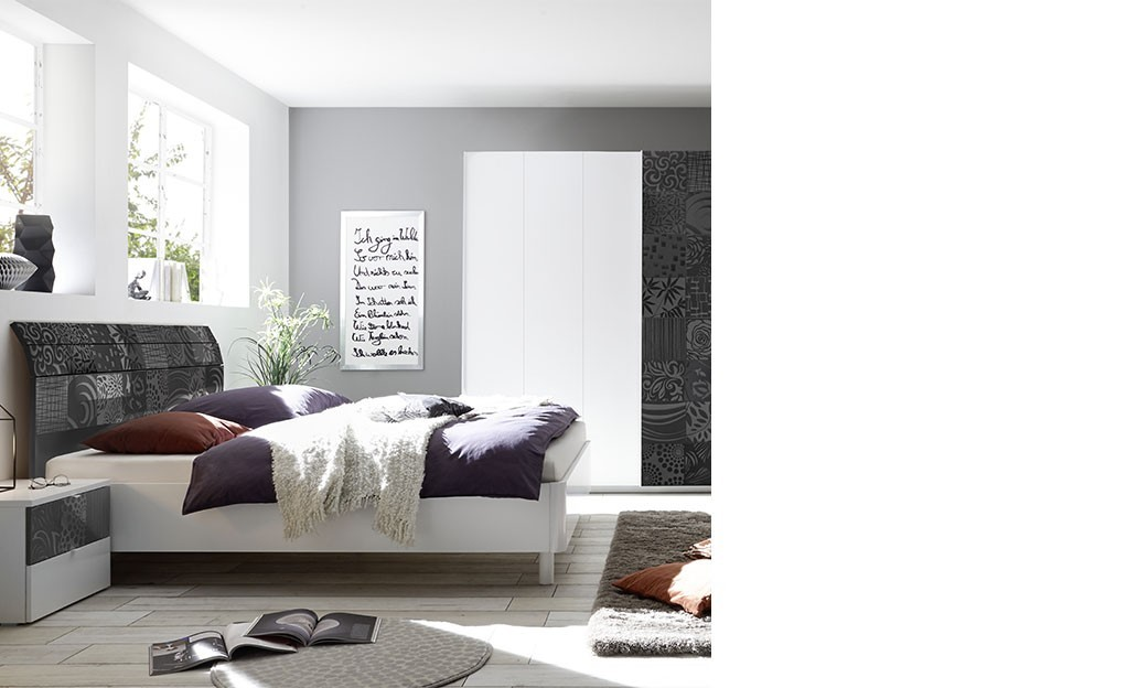 Chambre blanche design pour adulte | HcommeHome