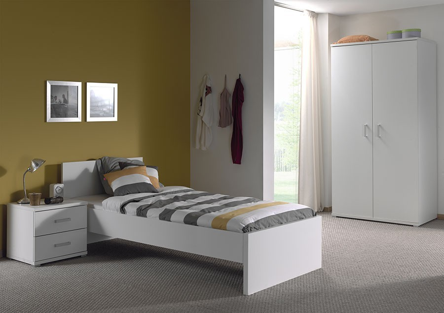 Chambre enfant complete blanc gregory for Chambre complete blanche