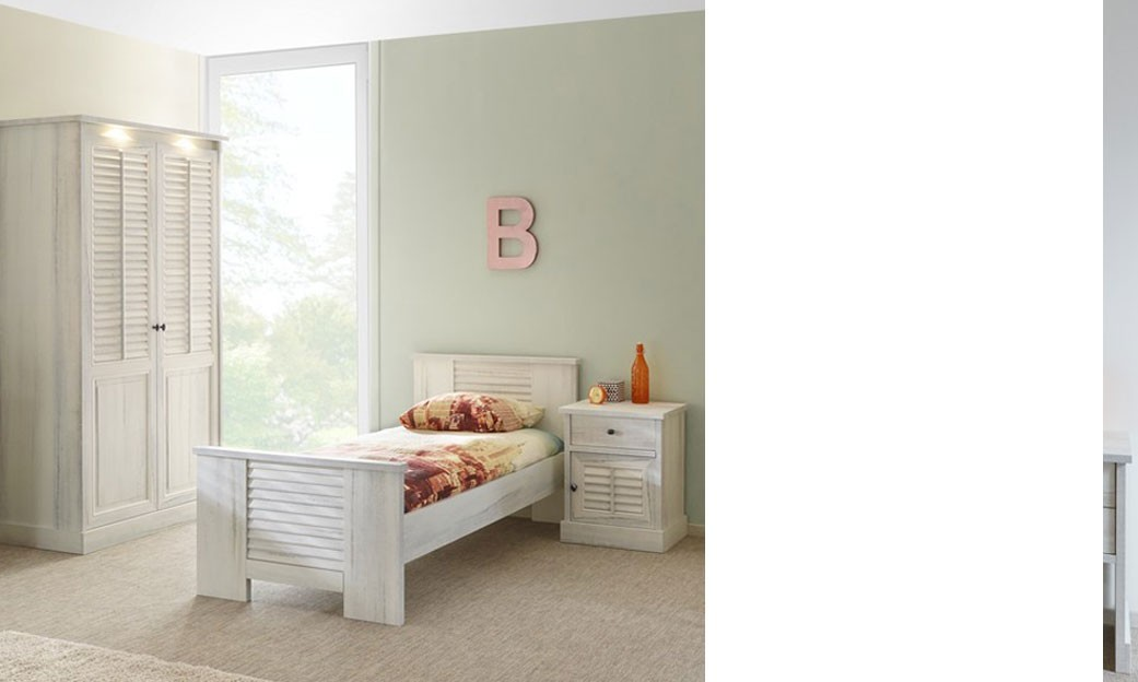 chambre enfant contemporain couleur bois blanc lanette. Black Bedroom Furniture Sets. Home Design Ideas