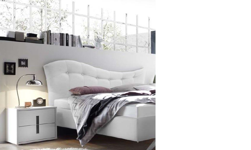 chevet design blanc et anthracite chambre adulte. Black Bedroom Furniture Sets. Home Design Ideas
