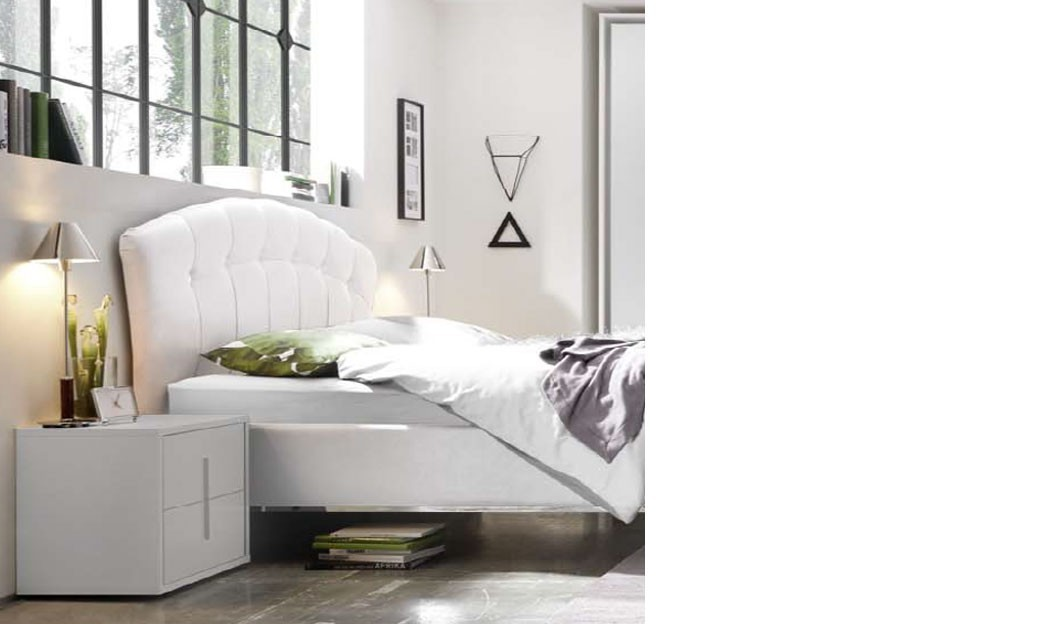 chevet design blanc et chrom chambre adulte. Black Bedroom Furniture Sets. Home Design Ideas
