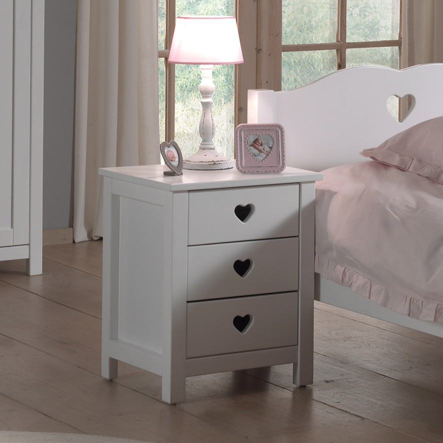 chevet enfant coeur stella zd1 chv e. Black Bedroom Furniture Sets. Home Design Ideas