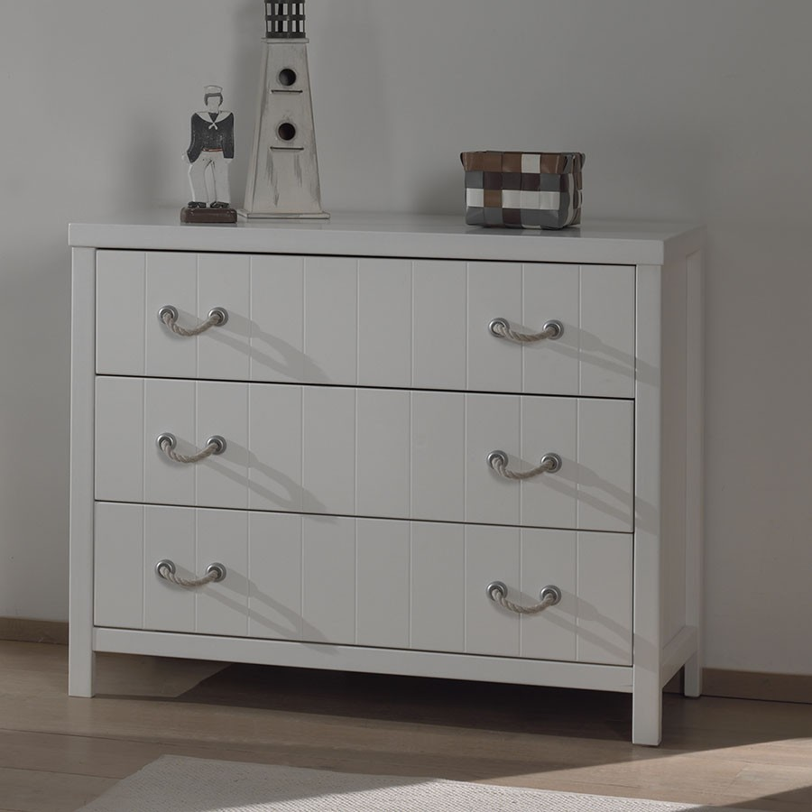 Commode blanc 3 tiroirs parker zd1 - Meuble commode design ...