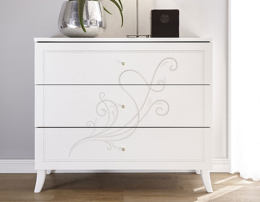 commode blanc design serigraphie altone zd1. Black Bedroom Furniture Sets. Home Design Ideas