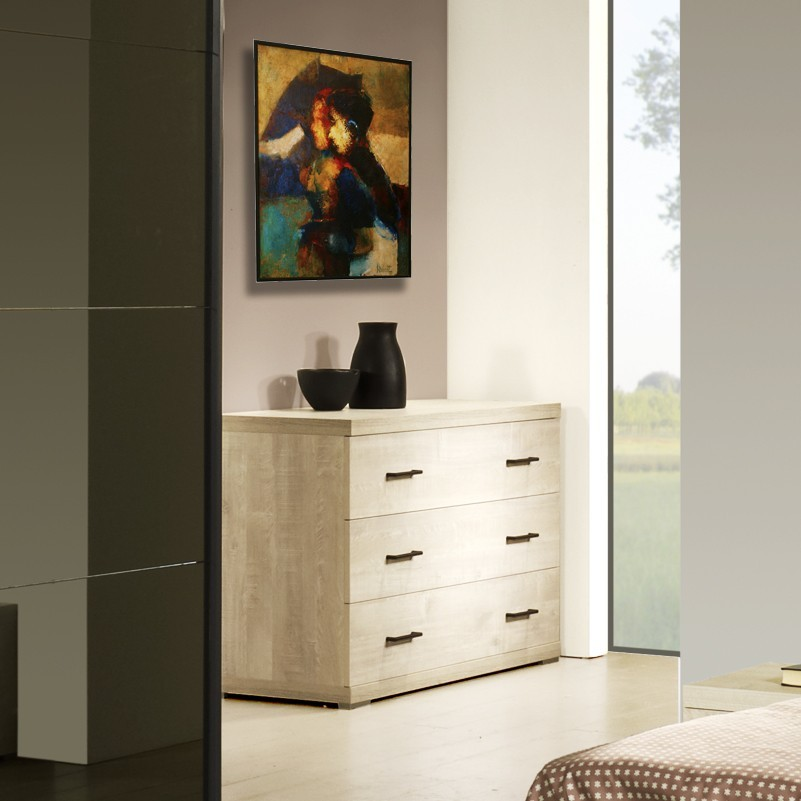 commode contemporaine 3 tiroirs marius zd1 comod a c. Black Bedroom Furniture Sets. Home Design Ideas