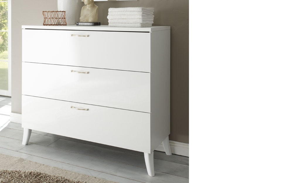 Commode design blanche chambre adulte sisi for Chambre adulte italienne