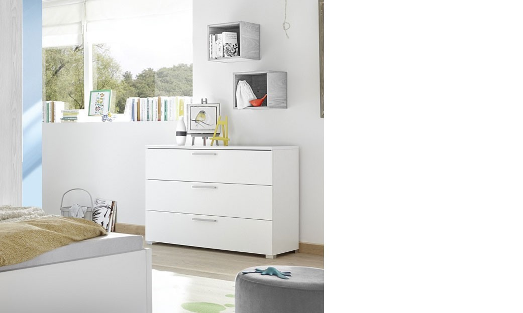 Commode blanche et grise design NATHEO 4