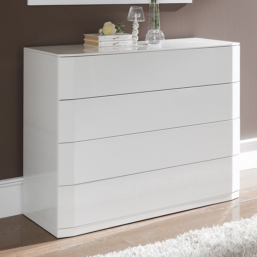 Commode design laquee blanche tacito zd1 comod a d for Commode chambre adulte design