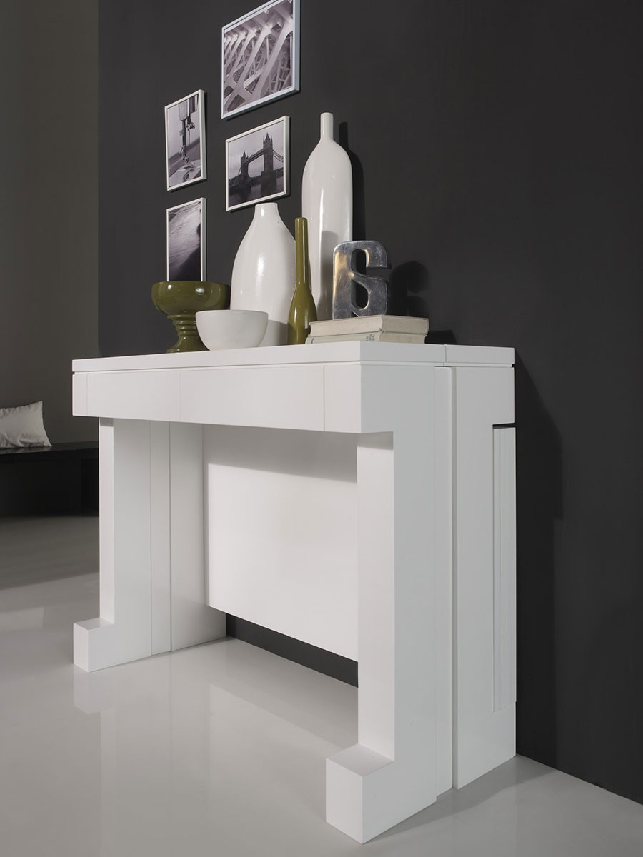 Console Contemporaine Bounty Transformable En Table Manger