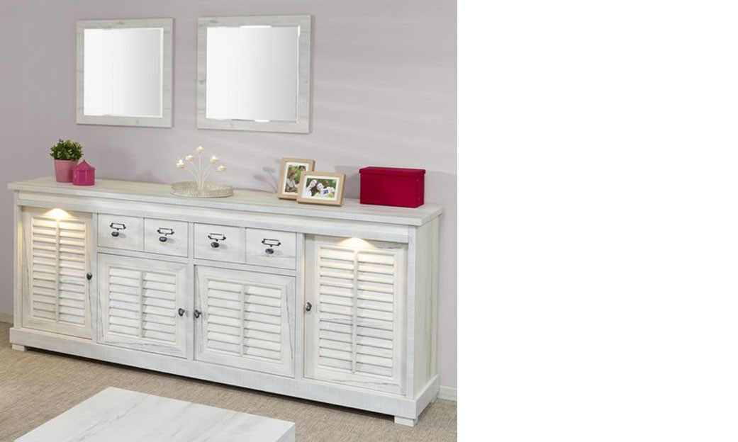 enfilade contemporaine couleur blanc bois lanette. Black Bedroom Furniture Sets. Home Design Ideas