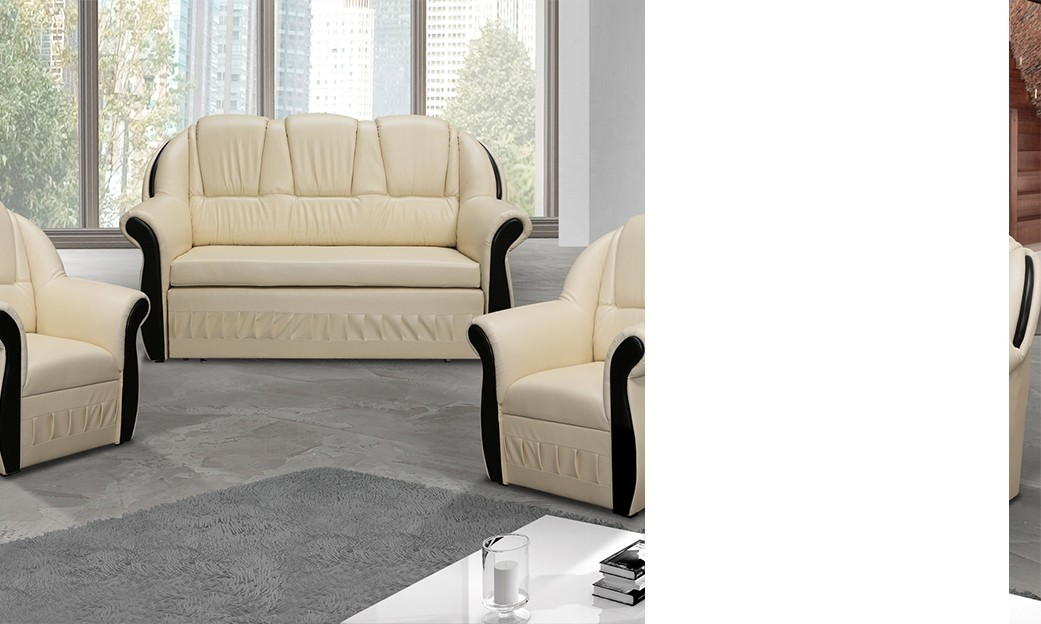ensemble canap et fauteuils beige anector. Black Bedroom Furniture Sets. Home Design Ideas