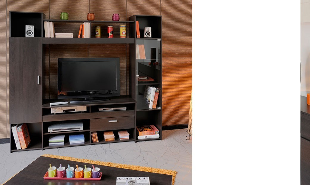 living tv contemporain couleur weng madiba. Black Bedroom Furniture Sets. Home Design Ideas