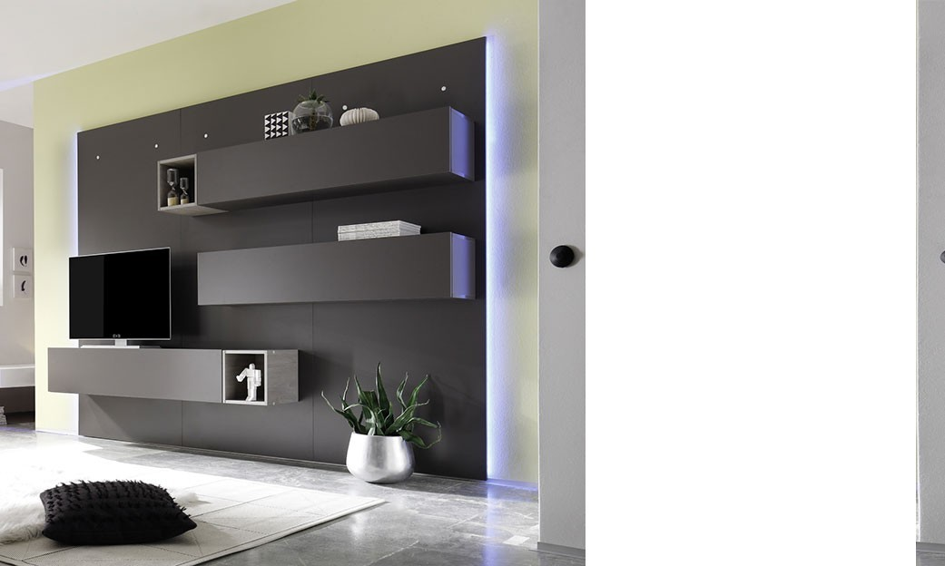 tv suspendu au mur. Black Bedroom Furniture Sets. Home Design Ideas