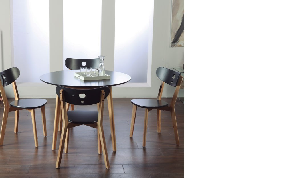 Table chaise noir moderne - Table et chaise moderne ...