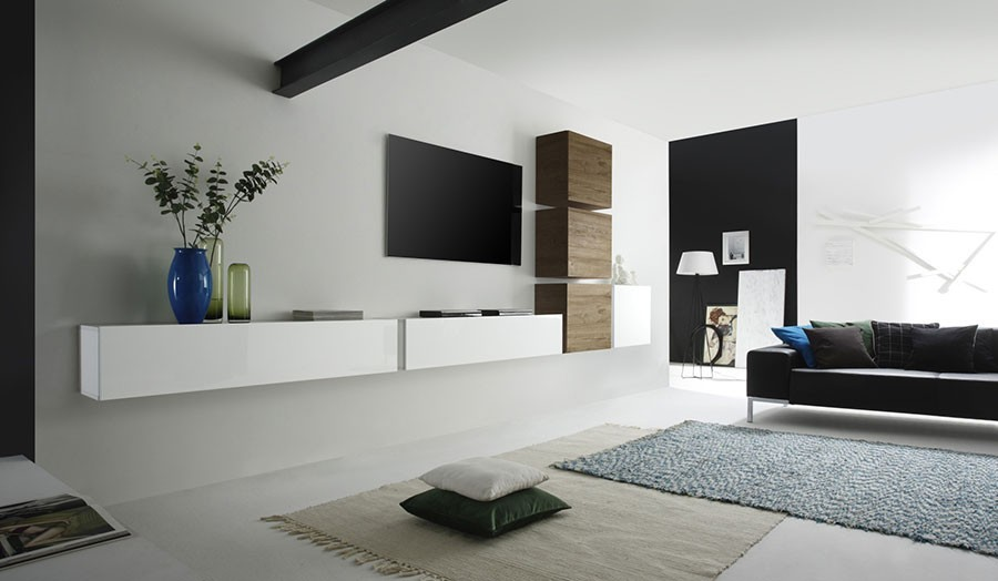 Ensemble tv contemporain loudeac zd1 ens m c for Meuble sejour suspendu