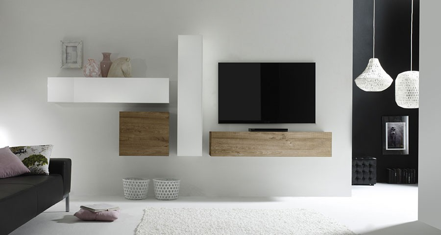 ensemble tv contemporain michele2 zd1 ens m c. Black Bedroom Furniture Sets. Home Design Ideas