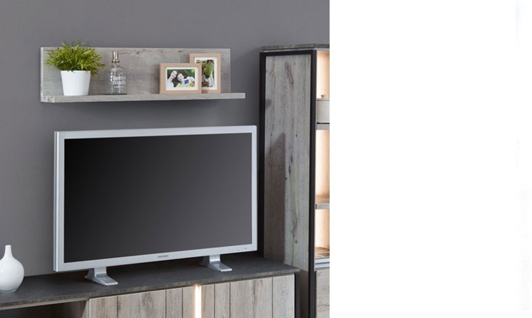 Etag re contemporaine ch ne gris - Etagere murale contemporaine ...