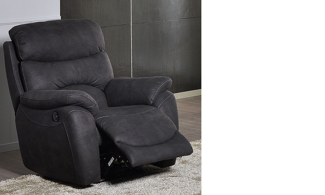fauteuil relax lectrique anthracite en tissu moritz. Black Bedroom Furniture Sets. Home Design Ideas