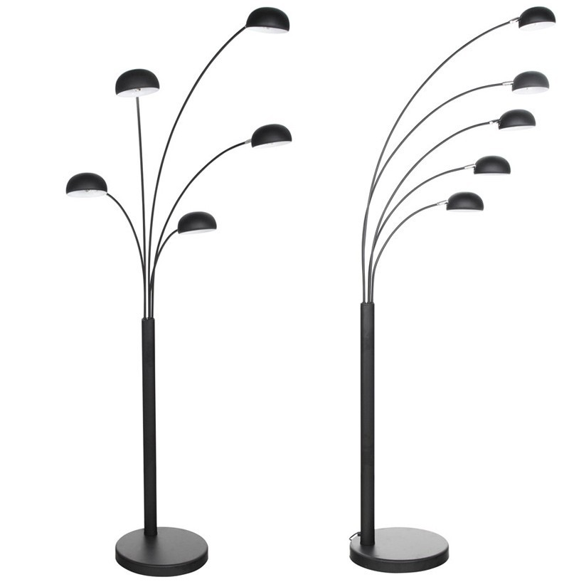 lampadaire design 5 branches noir oredon black zd1 lamp d. Black Bedroom Furniture Sets. Home Design Ideas