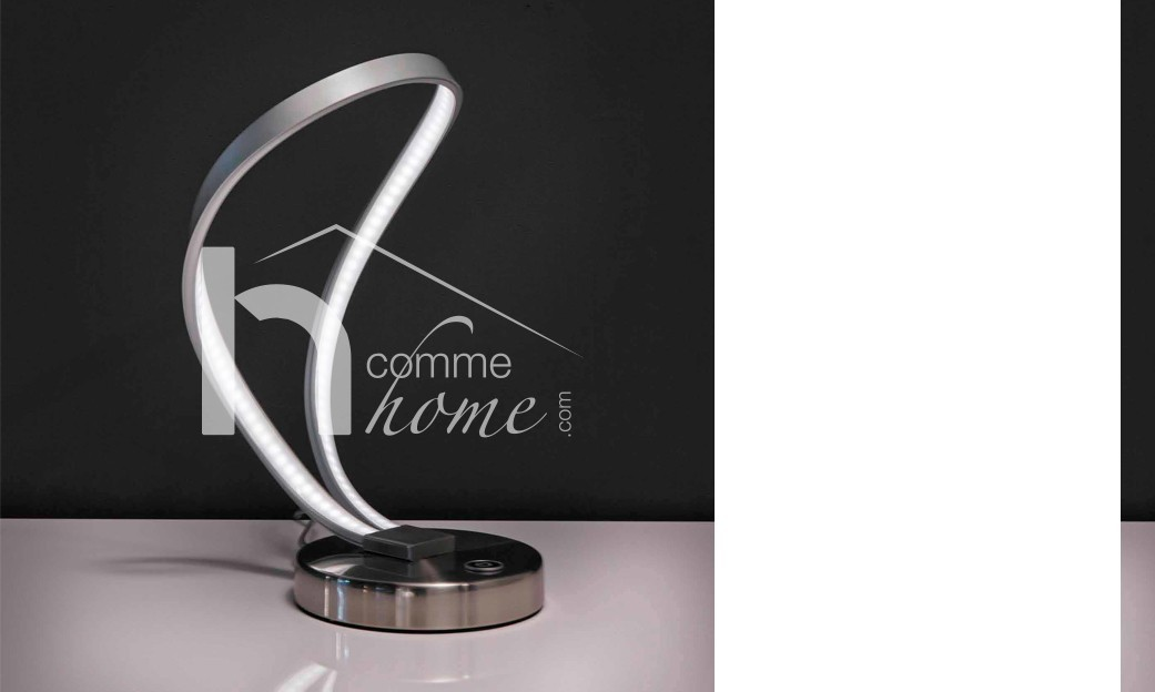 Lampe à poser design en nickel TWIST