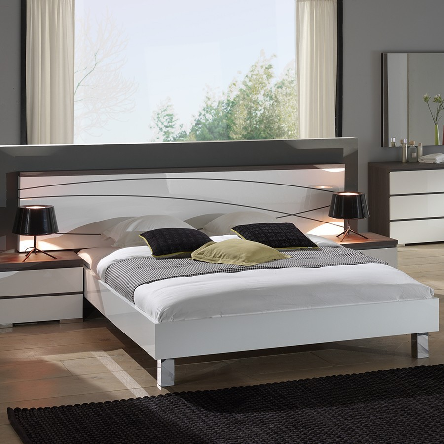 lit laqu blanc brillant lit divan cm tiroir lit sunset. Black Bedroom Furniture Sets. Home Design Ideas