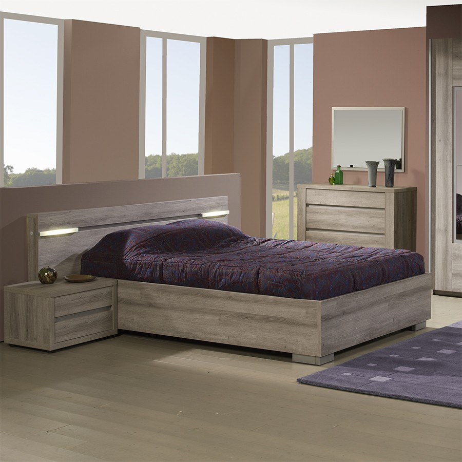 lit 2 personnes lumineux contemporain charlotte zd1 l a c. Black Bedroom Furniture Sets. Home Design Ideas