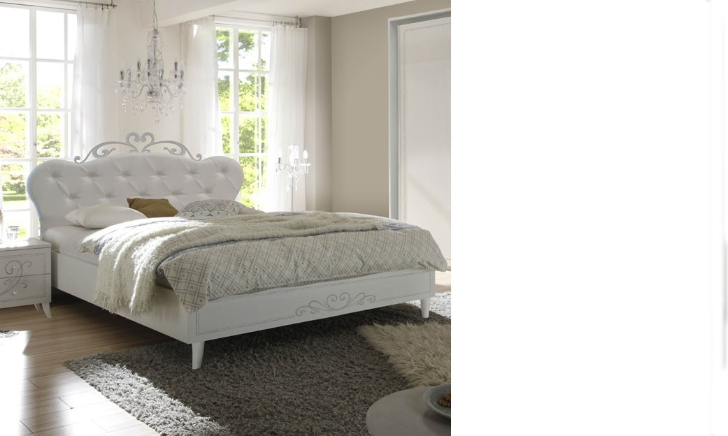 lit design adulte blanc avec sommier en option altone. Black Bedroom Furniture Sets. Home Design Ideas