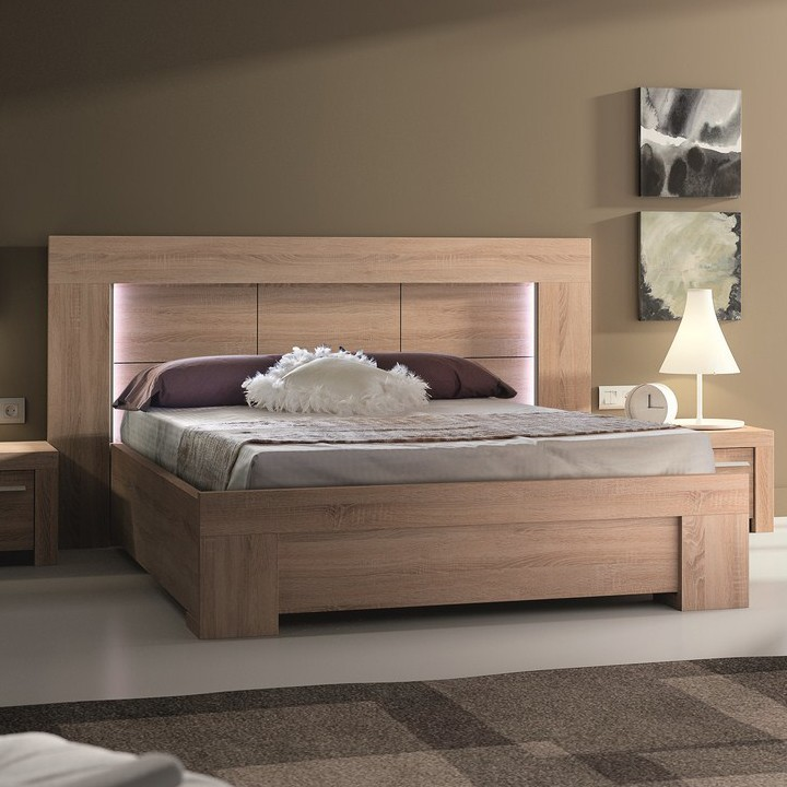 modele de lit adulte en bois maison design. Black Bedroom Furniture Sets. Home Design Ideas