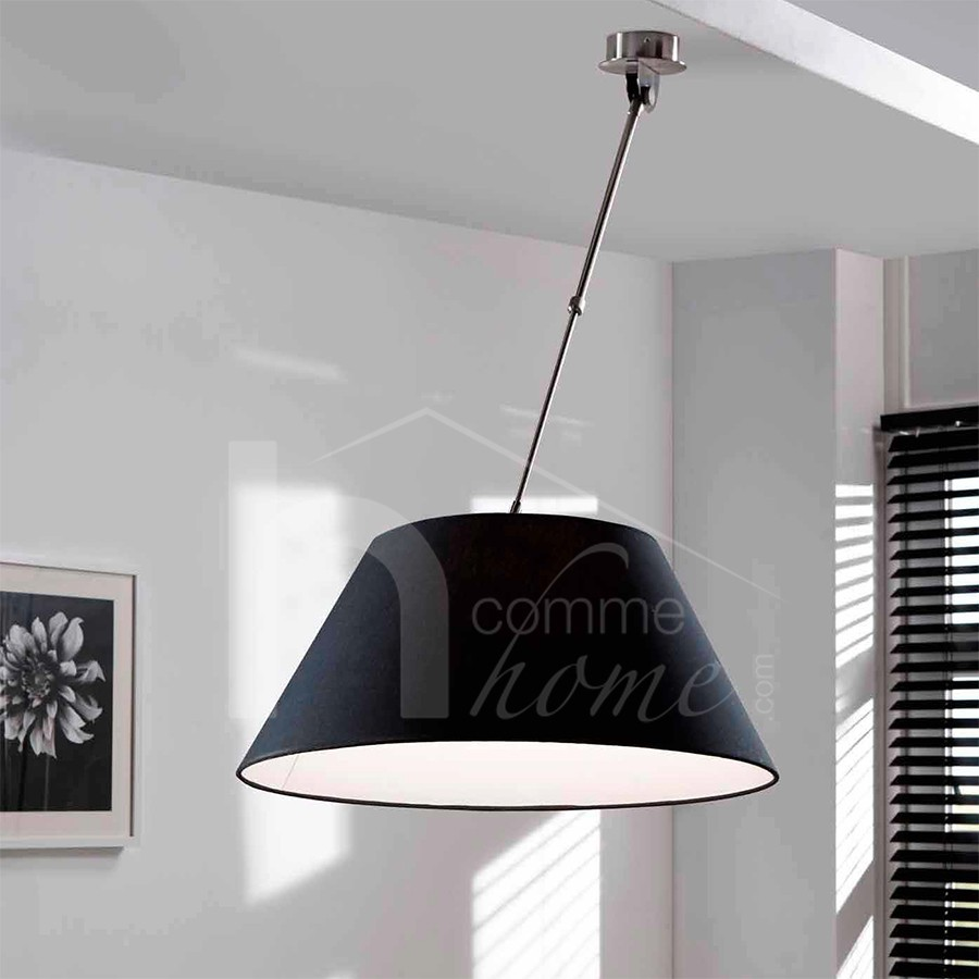 Suspension design free suspension design atto secto for Luminaire noir suspension