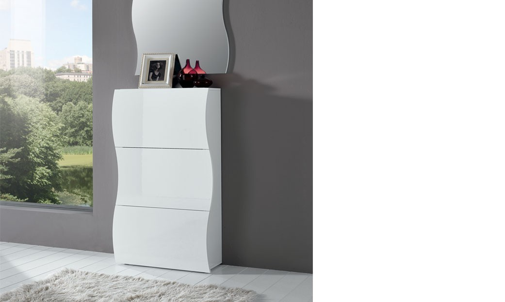 meuble chaussure blanc laqu conforama id e. Black Bedroom Furniture Sets. Home Design Ideas